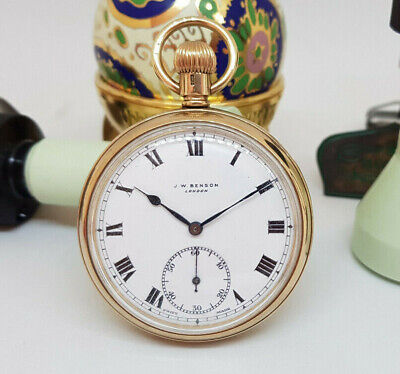 Beautiful Antique Solid 9K Gold J.w. Benson Pocket Watch