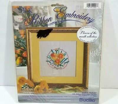 5 bucilla silk ribbon embroidery wearable transfer kit FLORAL MEDLEY flowers