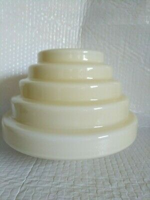 Vintage art deco stepped beehive lamp shade