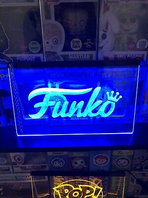 1 Funko POP! LED NEON Acrylic Sign Display Vaulted Limited Edition Action Figure