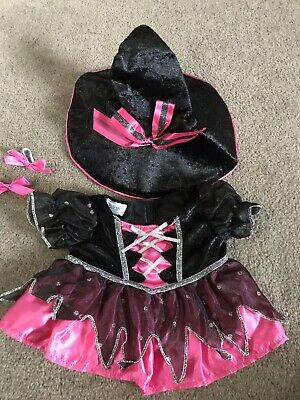 Build A Bear BAB Sparkly Dress Witch Pink & Black