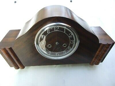 Antique Art Deco Clock  Enfield Made iEngland Napoleon Hat Type Works Vnt.1930's