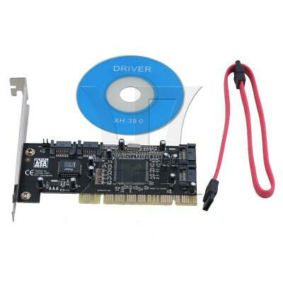 PCI To 4-Ports SATA Expansion Adapter Card Controller w/ Driver CD