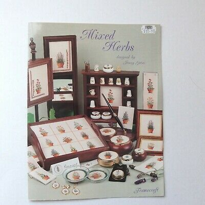 Mixed Herbs cross stitch pattern booklet. 10 projects. great condition