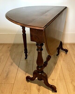 Antique Walnut Mid Victorian Sutherland Gate Leg Drop Leaf Table/side /coffee