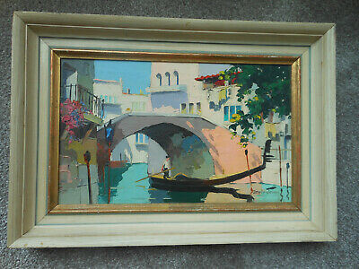 Cecil Rochfort D'oyly John - Original Signed Oil Painting Side Street In Venice