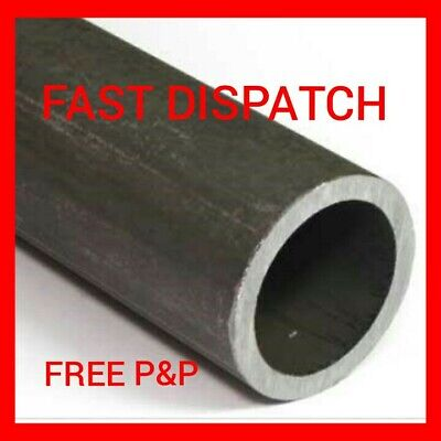 34Mm X 3Mm Mild Steel Circular Hollow Metal Tube Pipe Section Cut Lengths [Chs]