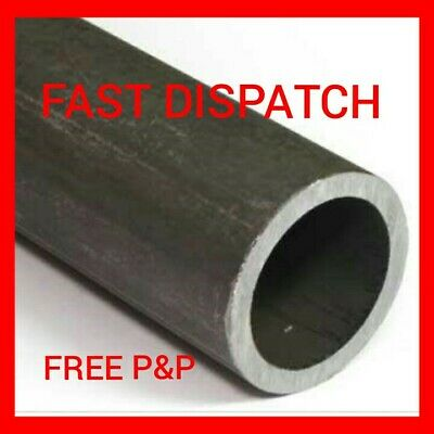 "76Mm X 3Mm (3"") Mild Steel Circular Hollow Metal Tube Pipe Section Cut Lengths"