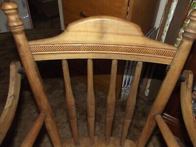 Vintage Wood Child's Potty Chair with Tray