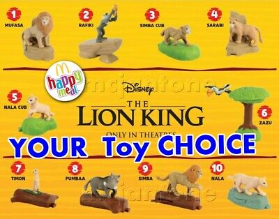 McDonald's 2019 LION KING Disney Movie PRIDE ROCK Circle of Life YOUR Toy CHOICE