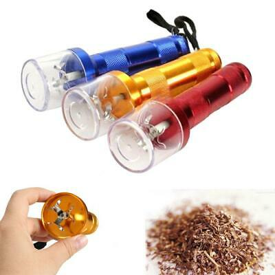 Electric Aluminum Metal Grinder Crusher Crank Tobacco Smoke Spice Herb Muller EH
