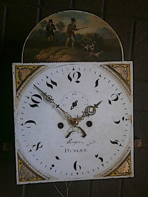C1820 8 day LONGCASE GRANDFATHER CLOCK DIAL+movement 14X20
