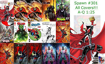 Spawn #301 A-Q McFarlane Ross Mattina J Scott Campbell Sienkiewicz + 1:25 + Sets