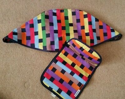 Genuine Limited edition bugaboo cameleon 1, 2 & 3 Missoni Hood and apron **