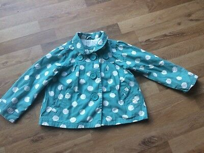 John Lewis girl's Spotty M Coat  Jacket Age 5