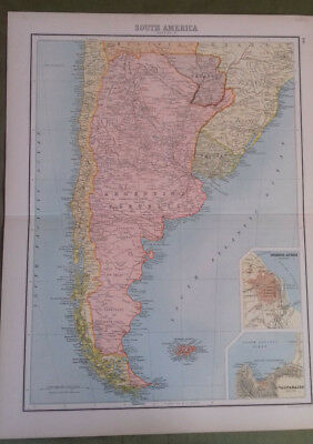 Circa 1897 Victorian Map South America 3 Bartholomew From The Citizen's Atlas