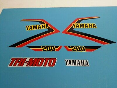 YAMAHA 1983 YT125 TRI-MOTO SIDE COVER DECALS