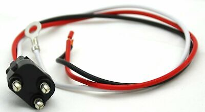 """Wire Harness Light Pigtail 11"""" Long Stop Tail Turn 3 Wire Prong Straight Plug"""