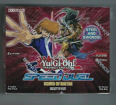 Yugioh Scars Of Battle  Speed Duel Booster Box  English Sealed Card Packs