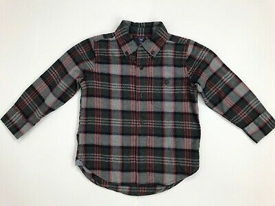 Baby Gap Boys Flannel Button Down Long Sleeve Shirt Toddler 2 NWT Cotton Plaid