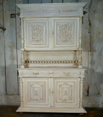 A Large Antique French Buffet Kitchen Dresser Cupboard Counter Drawers Shelves