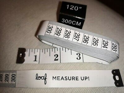 """Tailor Tape Measure White flexible Body X Long 3m 120"""" Ruler Sewing Cloth  LOAF"""