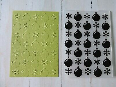 Christmas Embossing Folder - Baubles