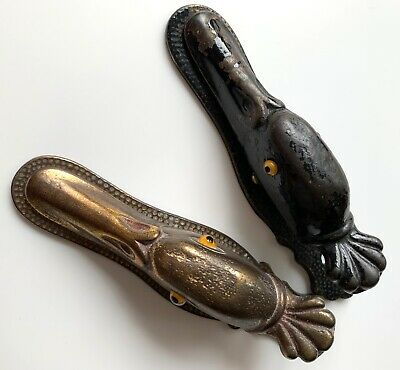 Pair of Antique Judd Duck-Motif Bronze Desk Paper Clips/Holders, Early 20th Cen