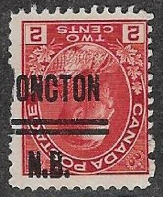 Canada City Precancel stamp - Moncton 1-106-I (invert), Lot 3