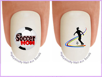 Nail Art #319 SPORTS Soccer MOM girl player WaterSlide Nail Decals Transfers
