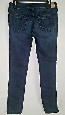 Girls True Religion Dark Wash Casey Single End Jeans Size 8