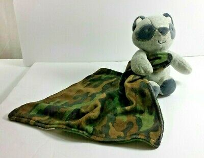 Carters Camo Lovey with Raccoon and Rattle
