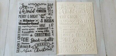 Christmas Embossing Folder -- Christmas Message
