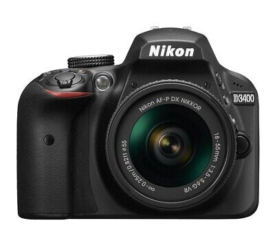 Nikon D3400 DSLR Camera with 18-55mm Lens - Black; Great Condition