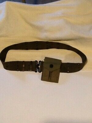 Pistol Belt With WWII Ammo Pouch (1945)