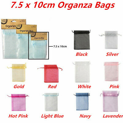 6 x Small Organza Bags 7.5x10cm Pouch Gift Jewellery Packing Birthday Favor Bag