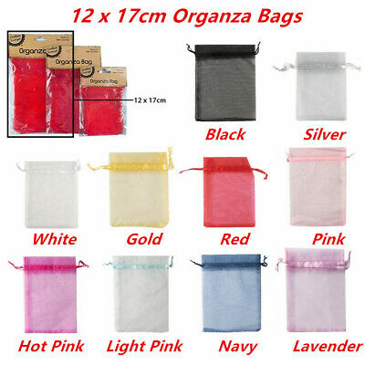 4 x Small Organza Bags 12x17cm Pouch Gift Jewellery Packing Birthday Favor Bag