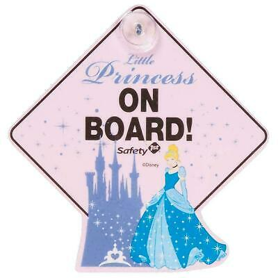 NEW Disney Princess On Board Car Window Sign Cinderella Baby