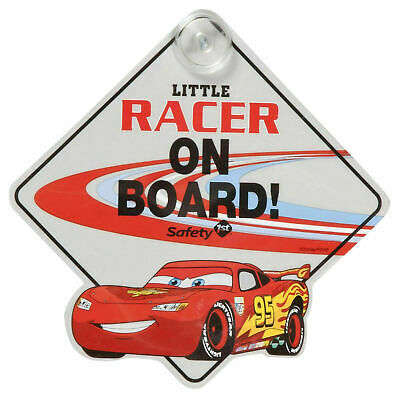 NEW Disney Little Racer On Board Cars Window Sign for Baby
