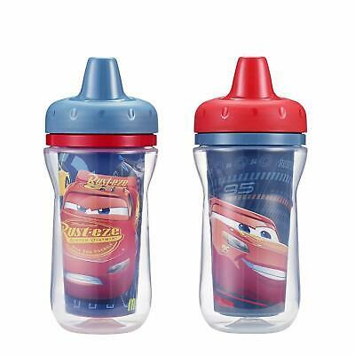 Disney Cars 2 Pack Insulated Sippy Cups Spill Proof Toddler & Baby NEW