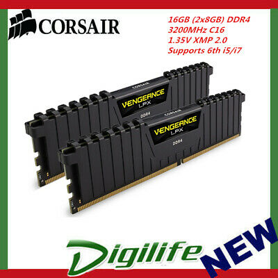 Corsair Vengeance LPX 16GB (2x8GB) DDR4 3200MHz Memory Supports 6th Core i5/i7