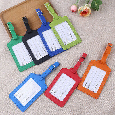 Travel Luggage Bag Tag Leather Suitcase Baggage Office Name Address ID Label AU