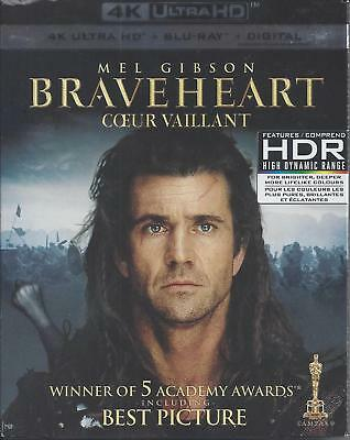 Braveheart (4K Ultra Hd/Bluray)(3 Disc Set)(Used)