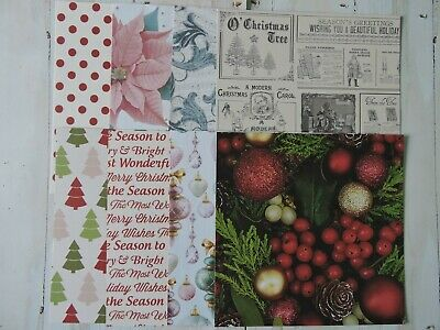 Christmas Card Making Paper - Assorted Christmas pack 3