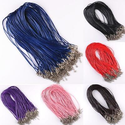 Real Leather Necklace Charms Findings 10 Pcs 1.5mm Adjustable Chains String Cord