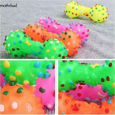 Lovely Pet Dog Puppy Cat Chews Toy Rubber Bone Squeaker Squeaky Sound Play Toys~