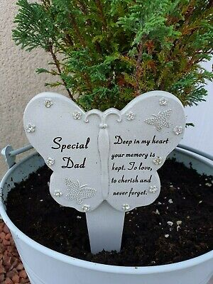 Dad Fathers Day Memorial Plaque Frame Stake Flower Vase Grave Remembrance