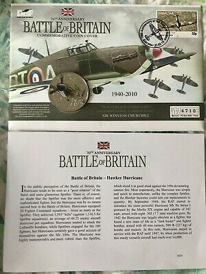 Westminster Coin Cover70th Anniversary Battle of Britain Hawker Hurricane