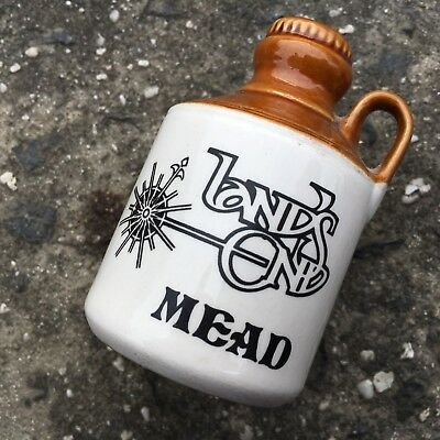 "LAND'S END MEAD ""Brown"" Alcohol Jug Shaped Collectable Souvenir Salt Shaker"