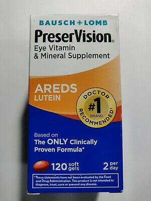 Bausch+Lomb PreserVision  Areds Lutein 120 Softgels